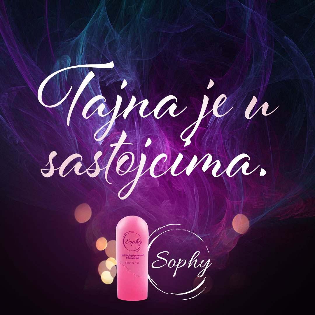 Sastojci Sophy gela su jestivi i doprinose idealnom ph intimne regije.